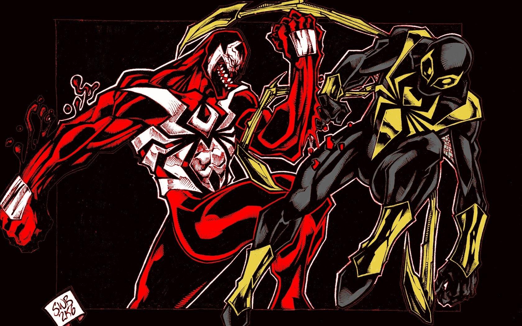 Комиксы - Человек-Паук  Веном Обои