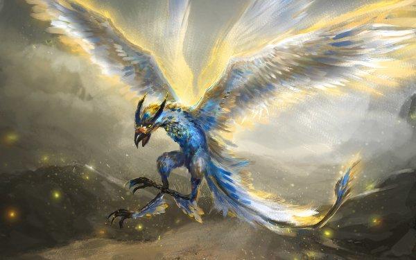 Fantasy Bird Fantasy Animals Creature HD Wallpaper   Background Image