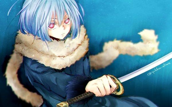 Anime That Time I Got Reincarnated as a Slime Rimuru Tempest Tensei shitara Slime Datta Ken Blue Hair HD Wallpaper | Background Image
