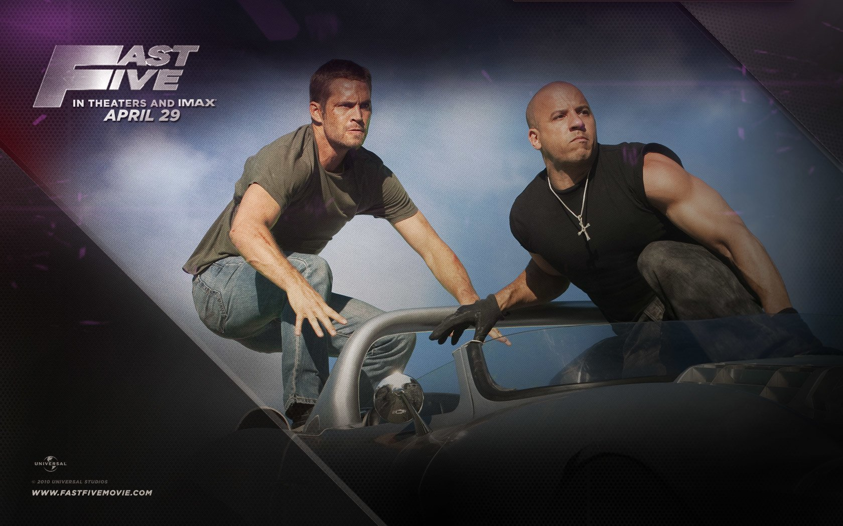 Movie - Fast Five  Dominic Toretto Brian O'Conner Vin Diesel Paul Walker Wallpaper