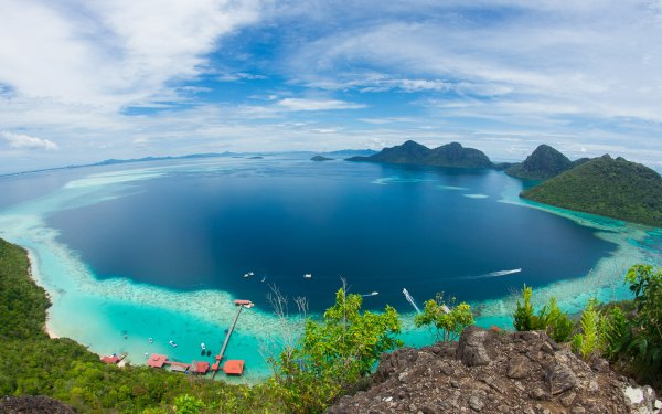 Earth Ocean Malaysia Sea Fisheye HD Wallpaper | Background Image