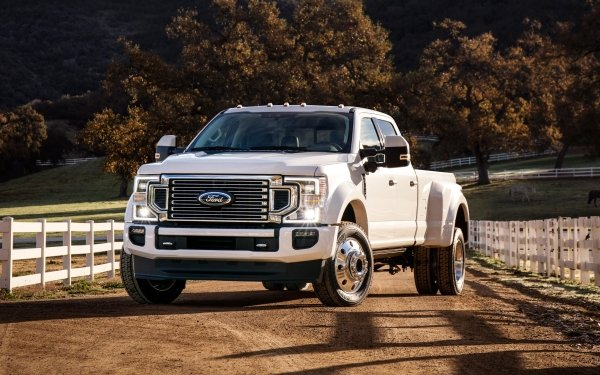 Vehicles Ford Super Duty Ford Car White Car Pickup HD Wallpaper | Background Image