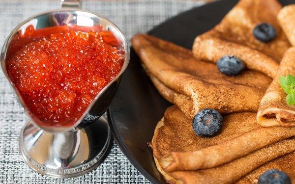 Food Caviar Crêpe Seafood HD Wallpaper | Background Image