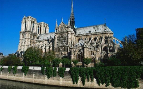 Religious Notre-Dame de Paris Cathedrals HD Wallpaper | Background Image