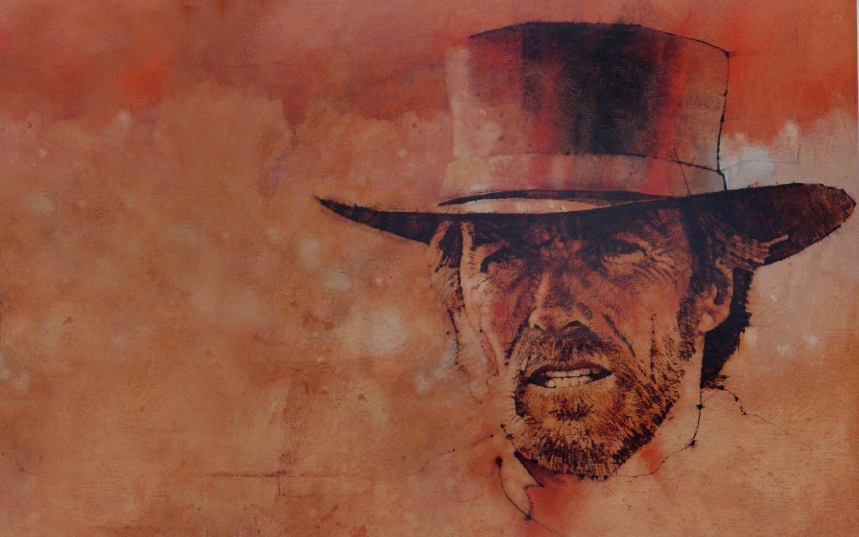 Celebrity - Clint Eastwood  Gun Wallpaper