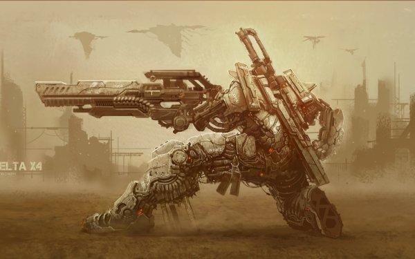 Sci Fi Mech Futuristic Mecha HD Wallpaper | Background Image