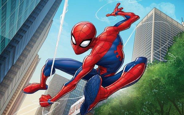 TV Show Marvel's Spider-Man Spider-Man Peter Parker City Marvel Comics HD Wallpaper | Background Image