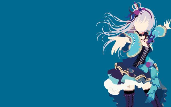 Anime BanG Dream! Minato Yukina Minimalist Fondo de pantalla HD | Fondo de Escritorio